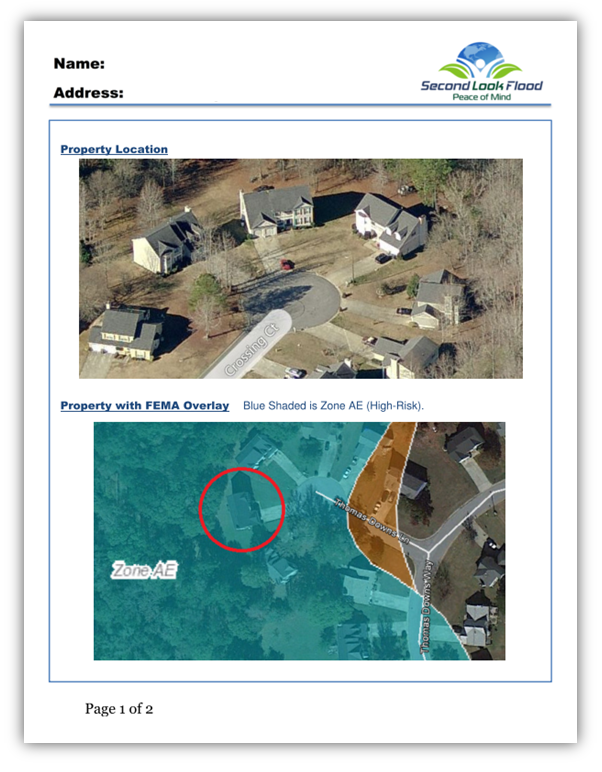 Second Look Flood Accurate Affordable FEMA Flood Zones Maps - Current fema flood maps